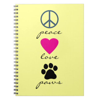 Peace Love Paws Notebook