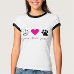 Peace Love Paws Tee Shirts