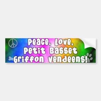 Peace Love PBGVs Bumper Sticker