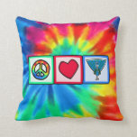 Peace, Love, Peacocks Throw Pillow