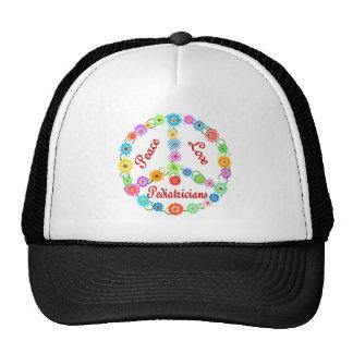 PEACE LOVE PEDIATRICIANS TRUCKER HAT
