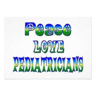 Peace Love Pediatricians Custom Invitations