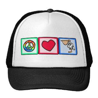 Peace, Love, Pelicans Cap