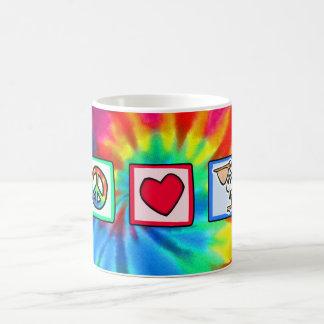 Peace, Love, Pelicans Coffee Mug