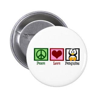 Peace Love Penguins Buttons