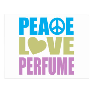 Peace Love Perfume Postcard