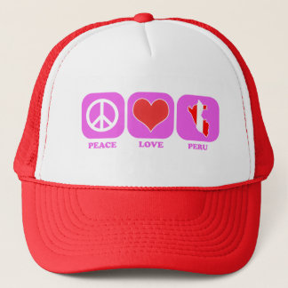 Peace Love Peru Trucker Hat