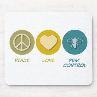 Peace Love Pest Control Mouse Mats