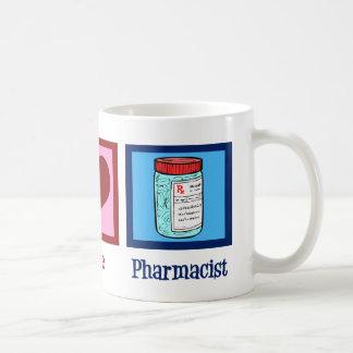 Peace Love Pharmacist Coffee Mug