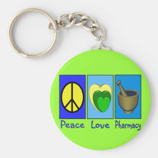 Peace Love Pharmacy Key Ring