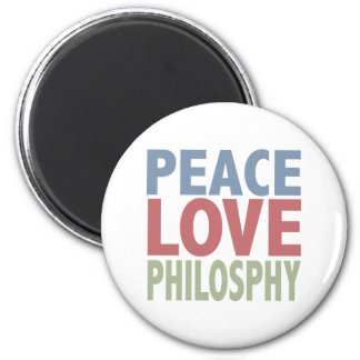 Peace Love Philosophy Magnets