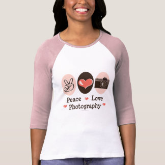 Peace Love Photography Camera Raglan Tee