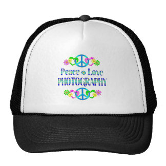 Peace Love Photography Mesh Hat