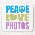 Peace Love Photos Mouse Pad