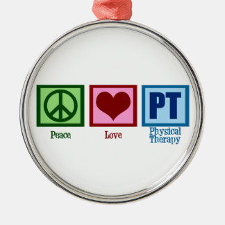 Peace Love Physical Therapist Christmas Ornament