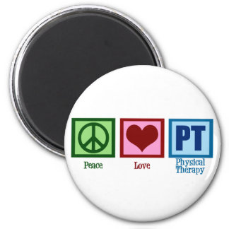 Peace Love Physical Therapist Magnet
