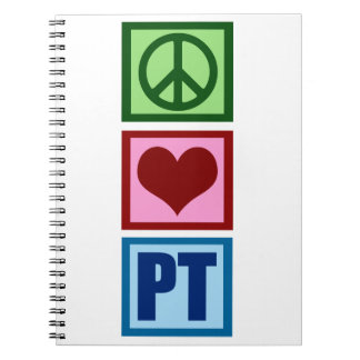 Peace Love Physical Therapist Notebook