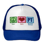 Peace Love Physical Therapist Trucker Hats