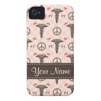 Peace Love Physical Therapy Caduceus Blackberry Bo iPhone 4 Cover