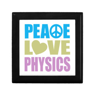 Peace Love Physics Small Square Gift Box