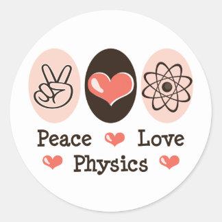 Peace Love Physics Sticker (20 per sheet)