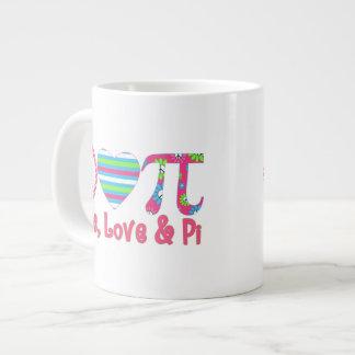Peace, Love & Pi 2 Jumbo Mug