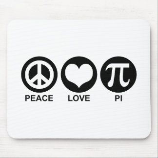 Peace Love Pi Mouse Pad