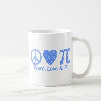 Peace Love Pi Music Basic White Mug