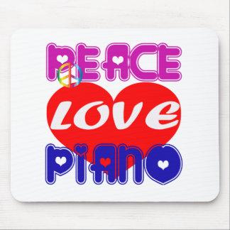 Peace Love Piano Mousepad