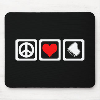 Peace love piano mouse pad