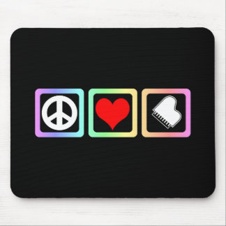 Peace love piano mouse pad