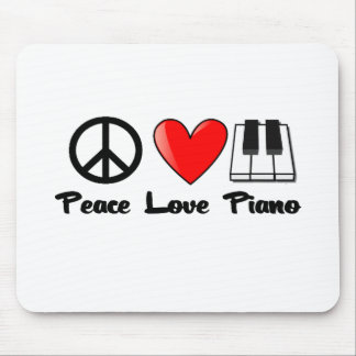 Peace, Love, Piano Mouse Pad