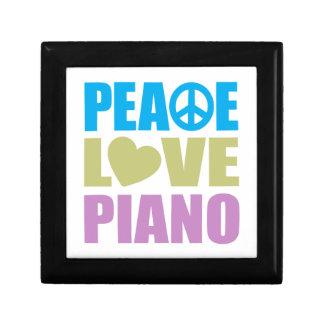 Peace Love Piano Small Square Gift Box