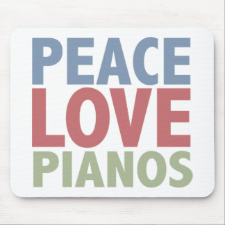 Peace Love Pianos Mouse Mat