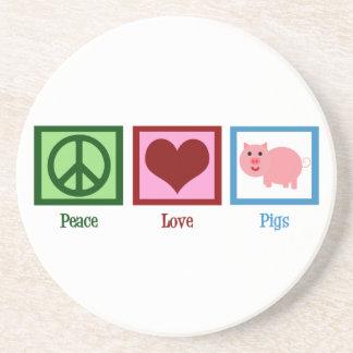 Peace Love Pigs Coaster