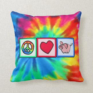 Peace, Love, Pigs Cushion