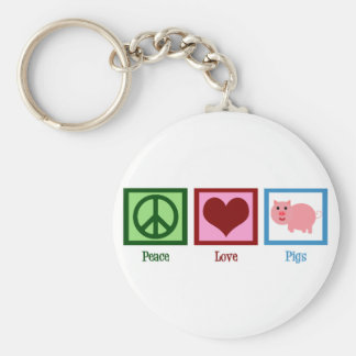 Peace Love Pigs Keychain