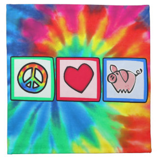 Peace, Love, Pigs Napkin