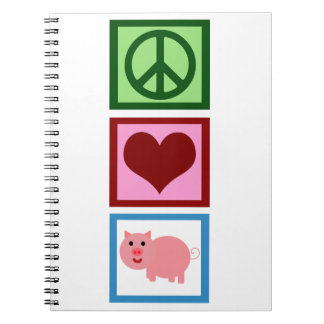 Peace Love Pigs Notebooks