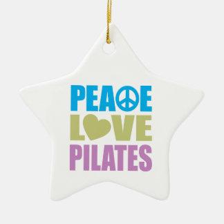 Peace Love Pilates Christmas Ornament