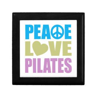 Peace Love Pilates Small Square Gift Box