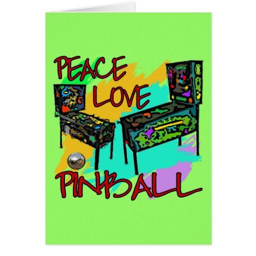 Peace Love Pinball Card