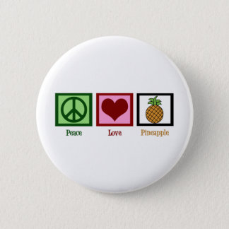 Peace Love Pineapple 6 Cm Round Badge