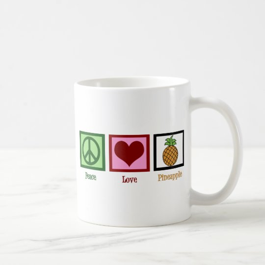 Peace Love Pineapple Coffee Mug