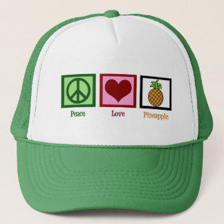 Peace Love Pineapple Trucker Hat