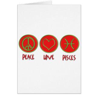 Peace Love Pisces Card