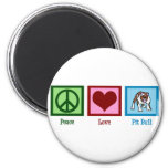 Peace Love Pit Bull Refrigerator Magnet