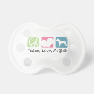 Peace Love Pit Bulls Baby Pacifier