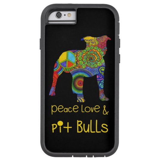"""Peace Love & Pit Bulls"" Pop Art iPhone Case"