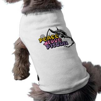 Peace Love Pitbull, Anti BSL Sleeveless Dog Shirt